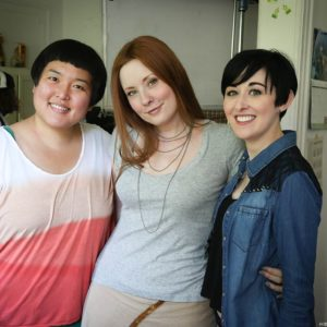 Hye Yun Park (Maya), Kitty Ostapowicz (Danielle), and Tara Cioletti (Astra) on the last day of shooting. 6/22