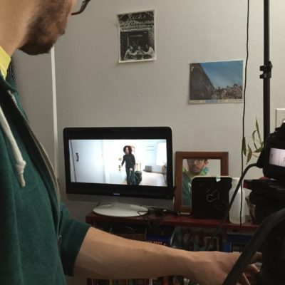 Director of Photography, Peter Westervelt, shooting the final scene of the film.