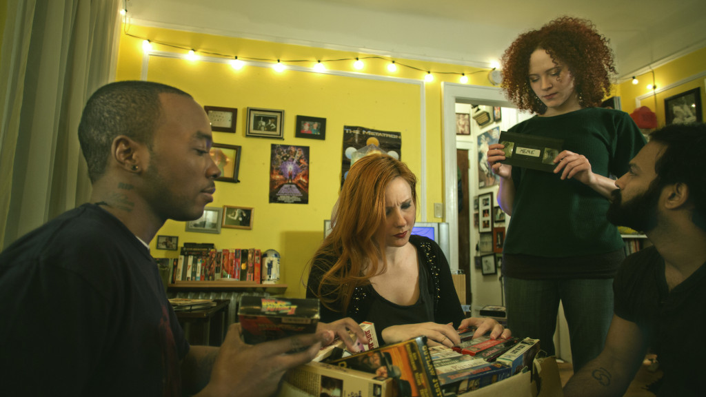 Still from Meme with Chaz Cleveland, Kitty Ostapowicz, Sarah Schoofs, and Shivantha Wijesinha