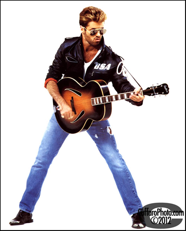 George Michael from the Faith tour, Shot by Chris Cuffaro, 1988