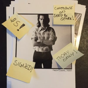 Nick Cave $5 Postcard for August  4th