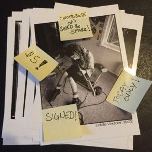 Eddie Vedder $5 Postcard for August  5th
