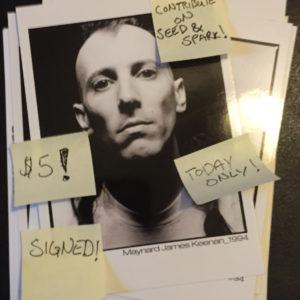 Maynard James Keenan  $5 Postcard for August  7th