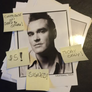 Morrissey $5 Postcard for August 8th