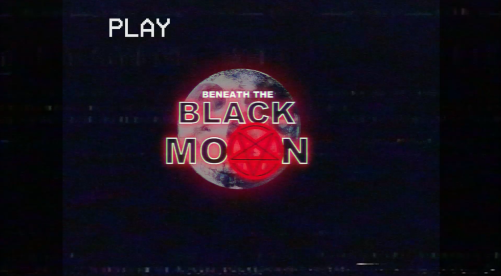 Beneath the Black Moon title screenshot