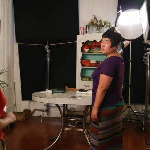 The setup for the last shot on our last day. With Hye Yun Park (Maya). On 6/22.