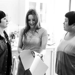 Hye Yun Park (Maya), Kitty Ostapowicz (Danielle), and Tara Cioletti (Astra) on the last day of shooting. 6/22