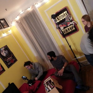 DP Peter Westervelt setting up the first shot of the day for 1-24. Shivantha Wijesinha and Carolyn Maher also pictured.