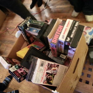 One of our boxes of VHS props from January 24th.